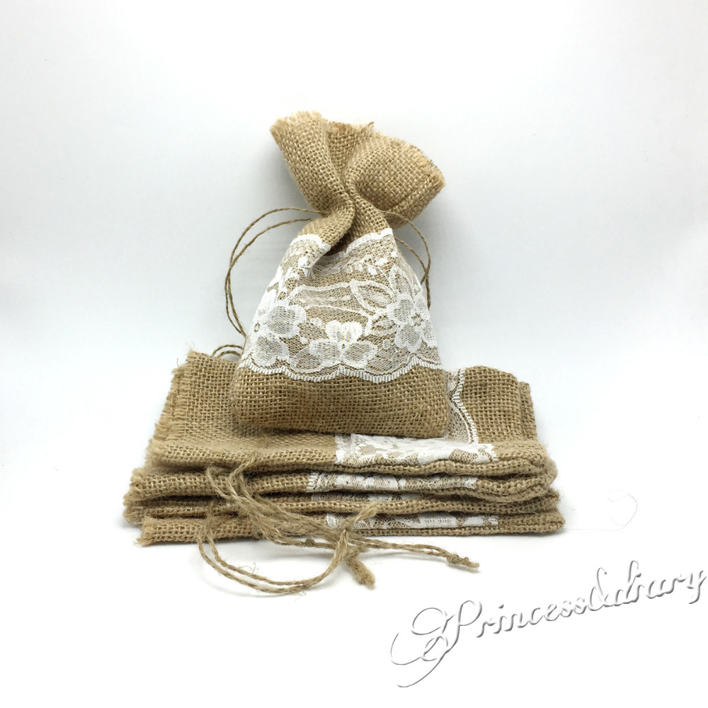 Buy mini lace bags wedding favors and get free shipping on ...