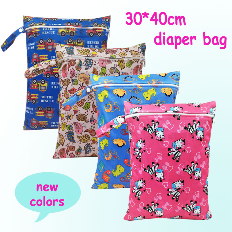 baby diaper bags character print changing wet bag baby cloth diapers backpacks - Baby Diaper Bags
