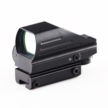 Tactical Reflex  Red/Green Laser 4 Reticle Dot Sight Scope Airgun Rifle scope sight Hunting Rail Mount 11mm/20mm  lunette caza цена