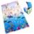 6 pçs/set Enigma Esteira do Jogo Do Bebê, caçoa o Presente Azul Oceano Tapete Engatinhando Pad Para As Crianças Brinquedos de Bloqueio Ginásio Atividade Espuma Eva Tapete
