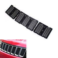 Black Front Inserts Honey Comb Mesh Grille Trim Grill Kit FIT For Grand Cherokee 14
