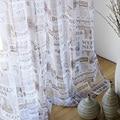 Шторы для драпировки  шторы с газетным принтом  светонепроницаемые шторы для гостиной  Cortinas  Bordadas Para Sala WP227B
