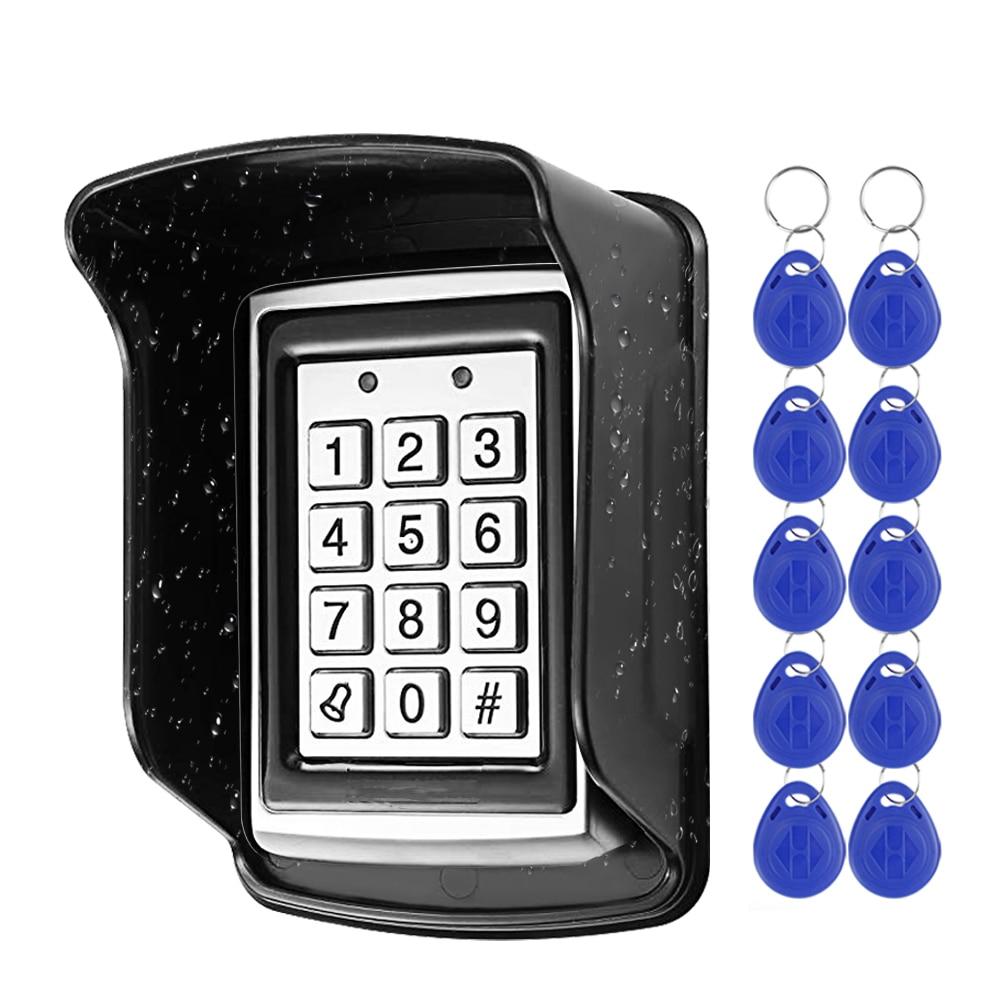 Металлическая клавиатура контроля доступа RFID, водонепроницаемая непромокаемая крышка, Открыватель двери для улицы, электронная система бл...