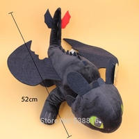 20 Inches 52cm How To Train Your Dragon 2 Toothless Night Fury Soft Plush Doll Toy