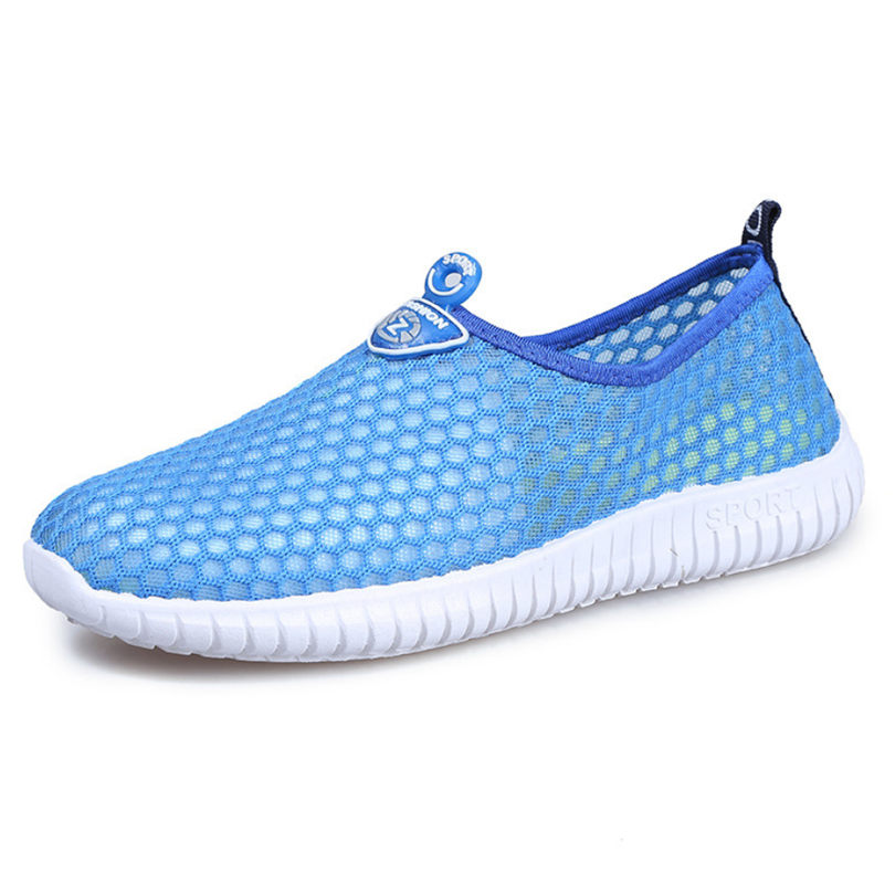 NAYIDUYUN Breathable Mesh Casual Shoes Men Summer Flats Shoes Walking Loafers Lightweight Comfortable Fashion Sneakers Sandals