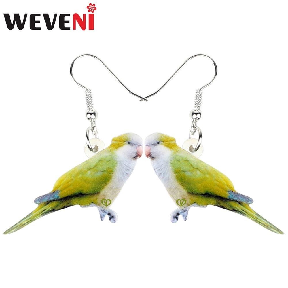 Weveni Akrilik Hijau Muda Lucu Biksu Burung Parkit Anting Anting Drop Menjuntai Fashion Hewan Perhiasan Untuk Wanita Gadis Hadiah Aksesoris Drop Earrings Aliexpress