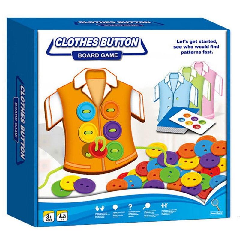 Одежда кнопка семейная настольная игра родитель-детская головоломка игра жизнь образование есть английские правила