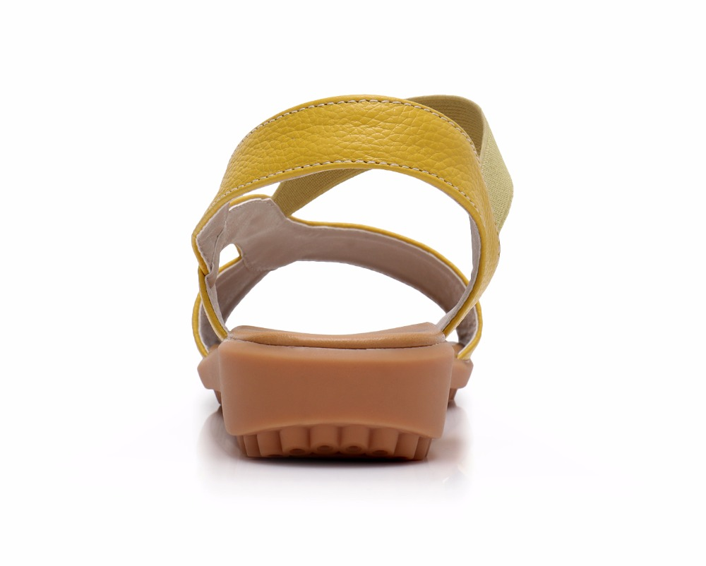 Image 3 - BEYARNE Cow Genuine Leather Sandals Women Flat Heel Sandals Fashion Summer Shoes Woman Sandals Summer Plus Size 34 43Low Heels   -