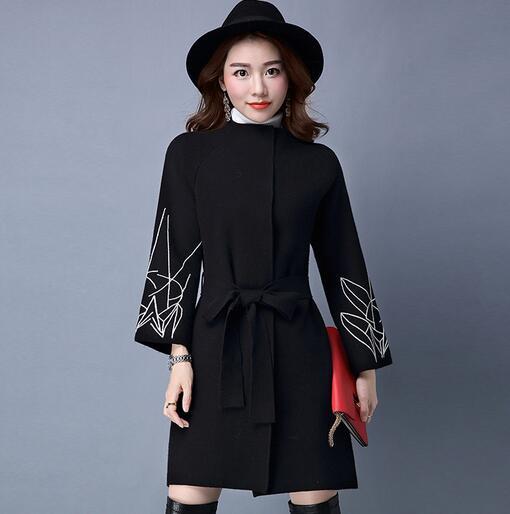 Lâche Tricoté Casual 2017 Mode Femmes La Cy05 Chaud blackish Nouveau Siim Manteau Printemps Yagenz Cardigan Long Plus gray Green Taille Xxl red Femelle Black Chandail 0wmNn8