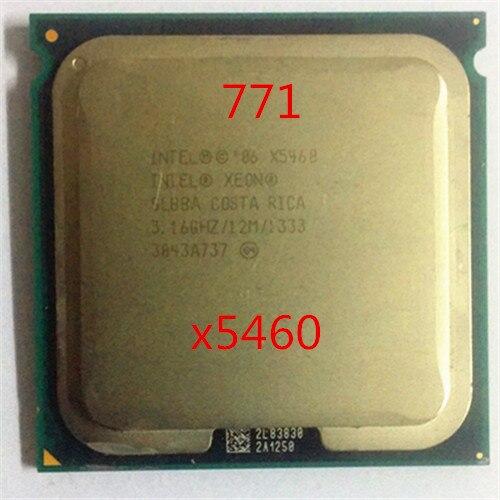 Origina INTEL XEON X5460 CPU EO/slbba/12 MB cache/1333 Mhz Quad Core x5460 Serveur Processeur de travail certains 775 socket carte mère