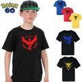 Pokemon Ir Bebê Menino Crianças T camisa Da Equipe de Valor Místico instinto menino roupas Pokeball Tee verão T-Shirt Tops de Menino Crianças roupas