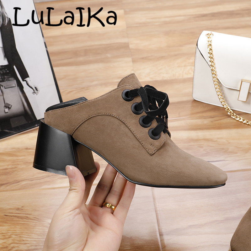 2018 Fashion Women Sexy Patchwork Gladiator High Heels Boot Genuine Leather Black Brown Pumps Woman Casual Lace Up Woman Shoes2018 Fashion Women Sexy Patchwork Gladiator High Heels Boot Genuine Leather Black Brown Pumps Woman Casual Lace Up Woman Shoes