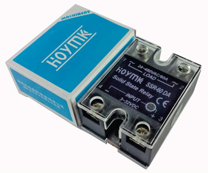Q00002 Hoymk SSR-60DA 60A Actually 3-32V DC to 24-480V AC SSR 60DA Single Phase Solid State Relay
