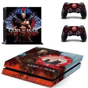 Image 5 - משחק אלוהים של מלחמת PS4 עור מדבקת מדבקות ויניל עבור Sony פלייסטיישן 4 קונסולת 2 בקרי PS4 מדבקת עור
