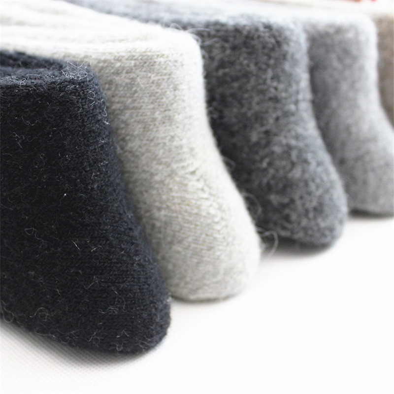 Winter wool thick warm   socks   men's solid color warm   socks   super thick male Meias   socks   men