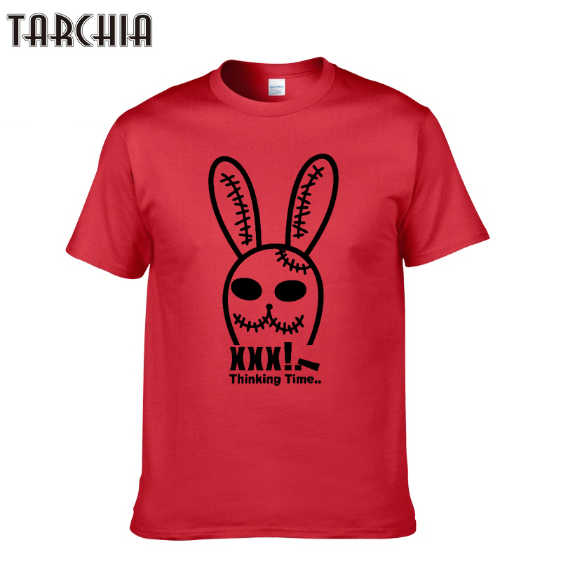 TARCHIA Men T-Shirts 2018 New Design Cute Rabbit Print Short Sleeve T Shirt Men Plus Size Summer Cotton Tees Tops Homme