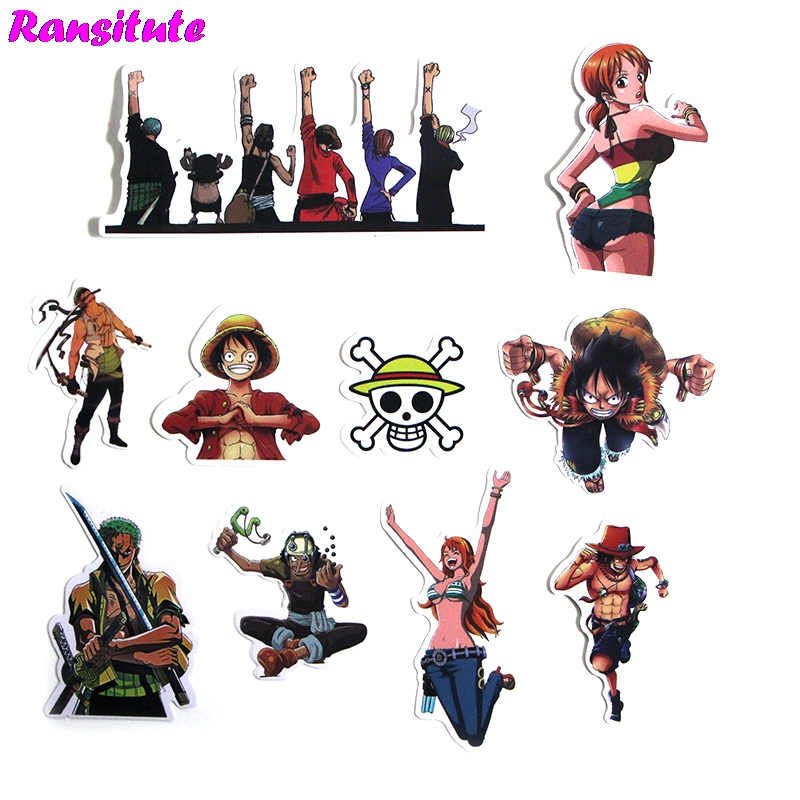 50pcs/set The Most Popular ONE PIECE Sticker Motorcycle And Suitcase Cool Laptop Sticker Skateboard Sticker