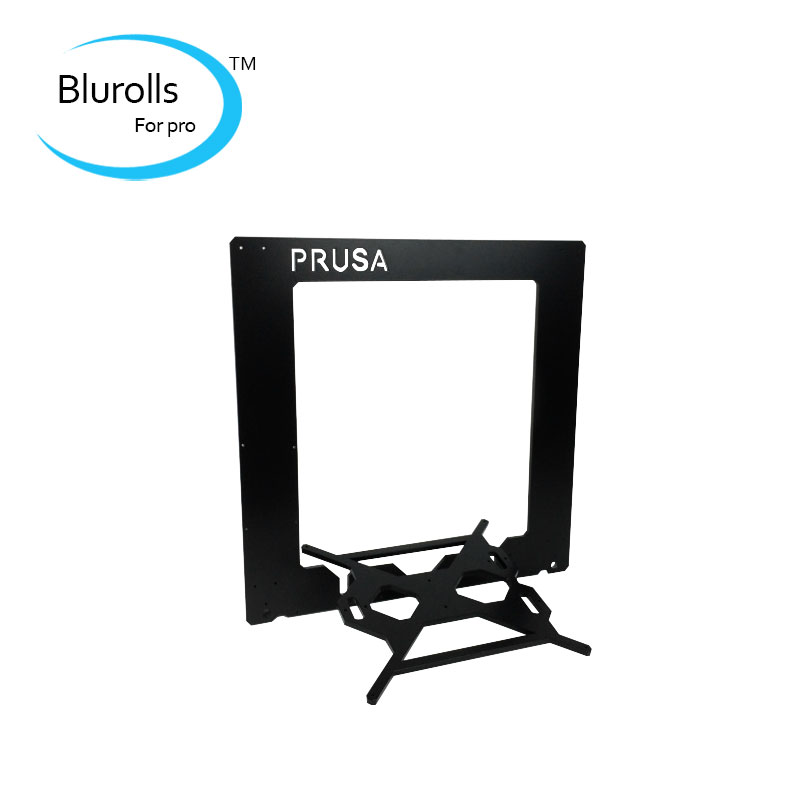 Reprap Prusa i3 frame Prusa i3 Rework  Aluminium Frame kit black silver color Anodized 6mm  RepRap 3D Printer funssor replacement pei sheet ultem with 200mp adhesive tape for reprap prusa i3 mk2 rework and other size 3d printer