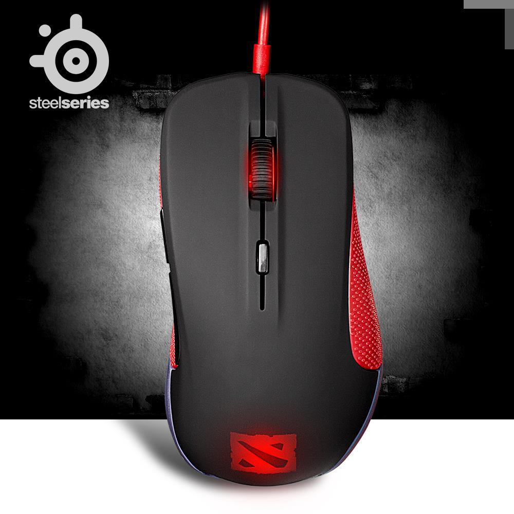 original SteelSeries Rival dota 2 Edition Optical gaming mouse mic 6500 DPI for mac laptop computer original freeshipping ...