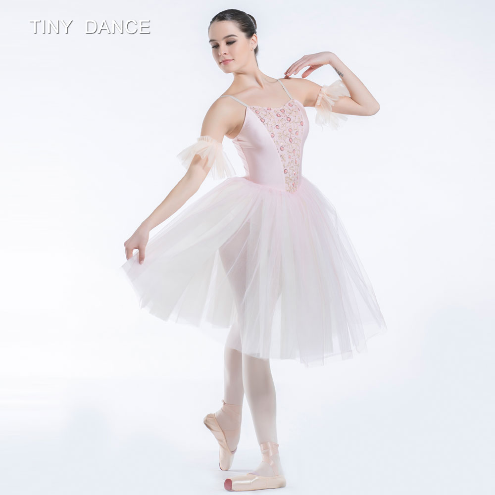 Pale Pink Romantic Length Ballet Dance Tutu Camisole ...
