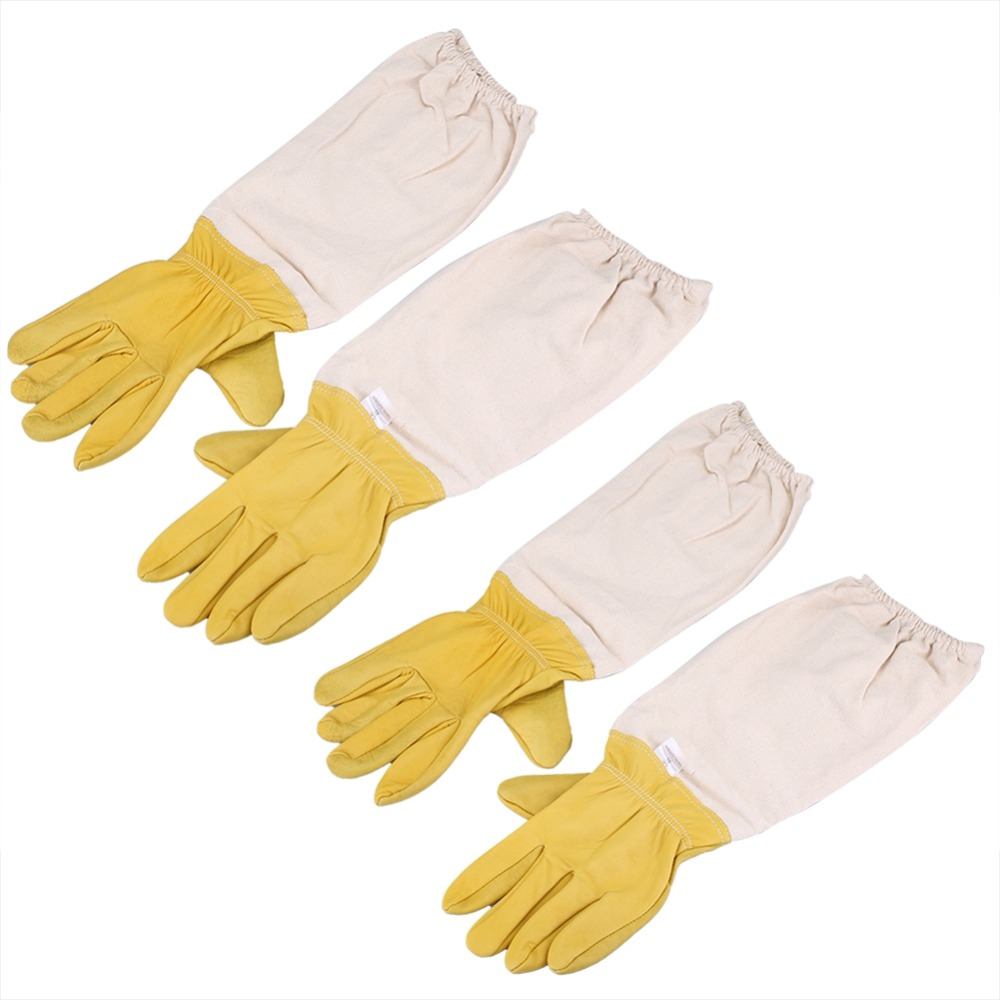 Pair of Protective Long Sleeves Elastic Beekeeping Gloves Perfect for Beginner Beekeeper Top Quality