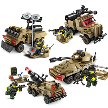 Военные бронетехники автомобиль Танк строительные блоки Совместимость Legoed Солдат Цифры оружие мировая война Кирпичи игрушки для детей
