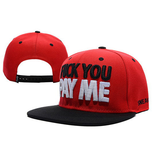 d2f44515 FUCK YOU PAY ME Sneaktip Snapback hats for men women swag bones Pray  baseball caps cool hip hop cap sports sun hat freeshipping