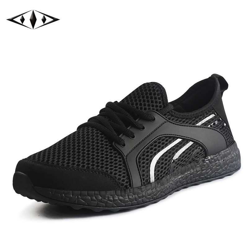 LEMAI Leisure Men Black Sneakers Autumn Spring Breathable Air Mesh Boy Running shoes For Men Outdoor Sport Trainers f022-B