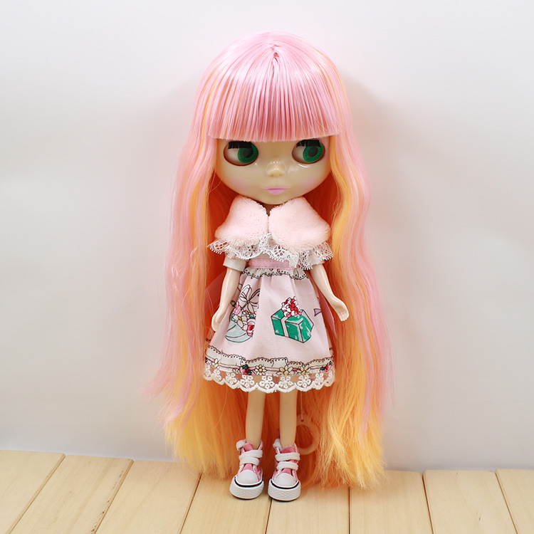 Nude Blyth doll long hair with bangs dolls suit for DIY baby dolls Free shipping