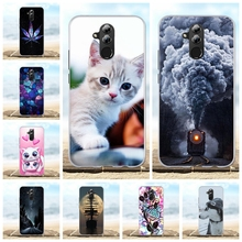 цена For Huawei Mate 20 lite Case Slim Soft TPU Silicone For Huawei Mate 20 lite Cover Cartoon Patterned For Huawei Maimang 7 Coque
