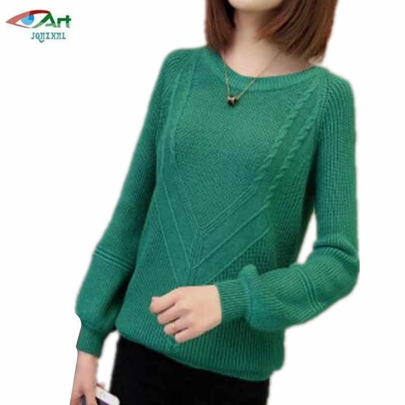 Свободный пуловер женские трикотажные изделия короткий свитер большого размера-муфтовая свитер сдлиннхыми рукавами сгероями из Демисезонный яркого цвета свитер чистого цвета AS633