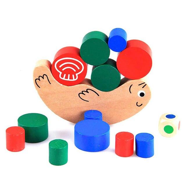 Nuevos Niños Del Bebé Temprano Educativo de Formación Equilibrio Caracol de Apilamiento Juego de Juguete De Madera