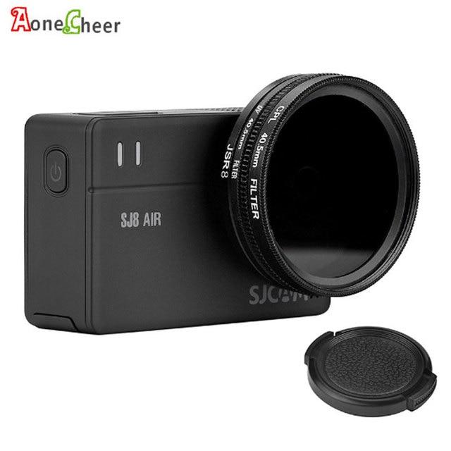 SJCAM Accessories 40.5mm CPL Filter + UV + 40.5mm Lens Cap + Adapter Ring for SJ8 Pro Air Plus Action Camera Lens Protector