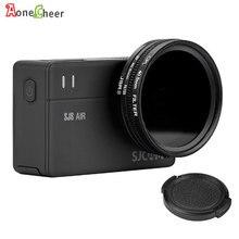 Sjcam acessórios 40.5mm cpl filtro + uv 40.5mm lente tampa adaptador anel para sj8 pro ar mais ação câmera lente protetor