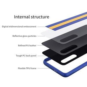 Image 5 - For Xiaomi Mi 9 Case Mi 9 Explorer Cover Nillkin Striped case PC PU leather Reflective Twinkling Back Cover Case For Xiaomi Mi9