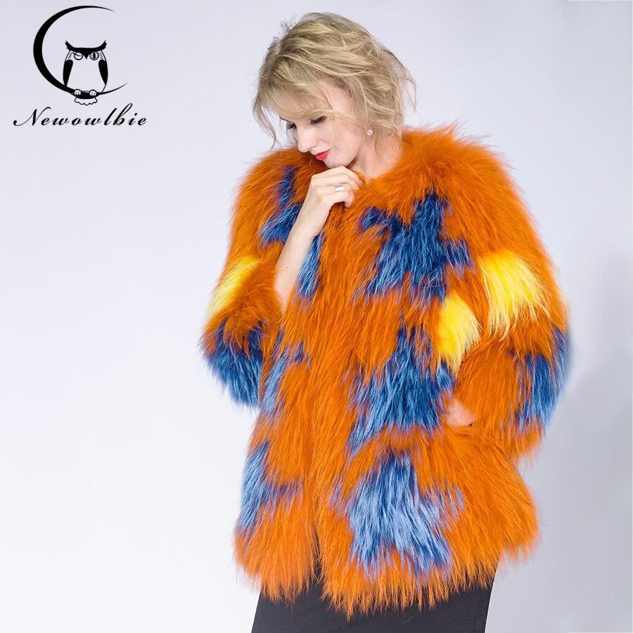 2018 вязанная модная женская куртка из меха енота, желтовато коричневая овца, шуба, короткая куртка, шуба из натурального меха