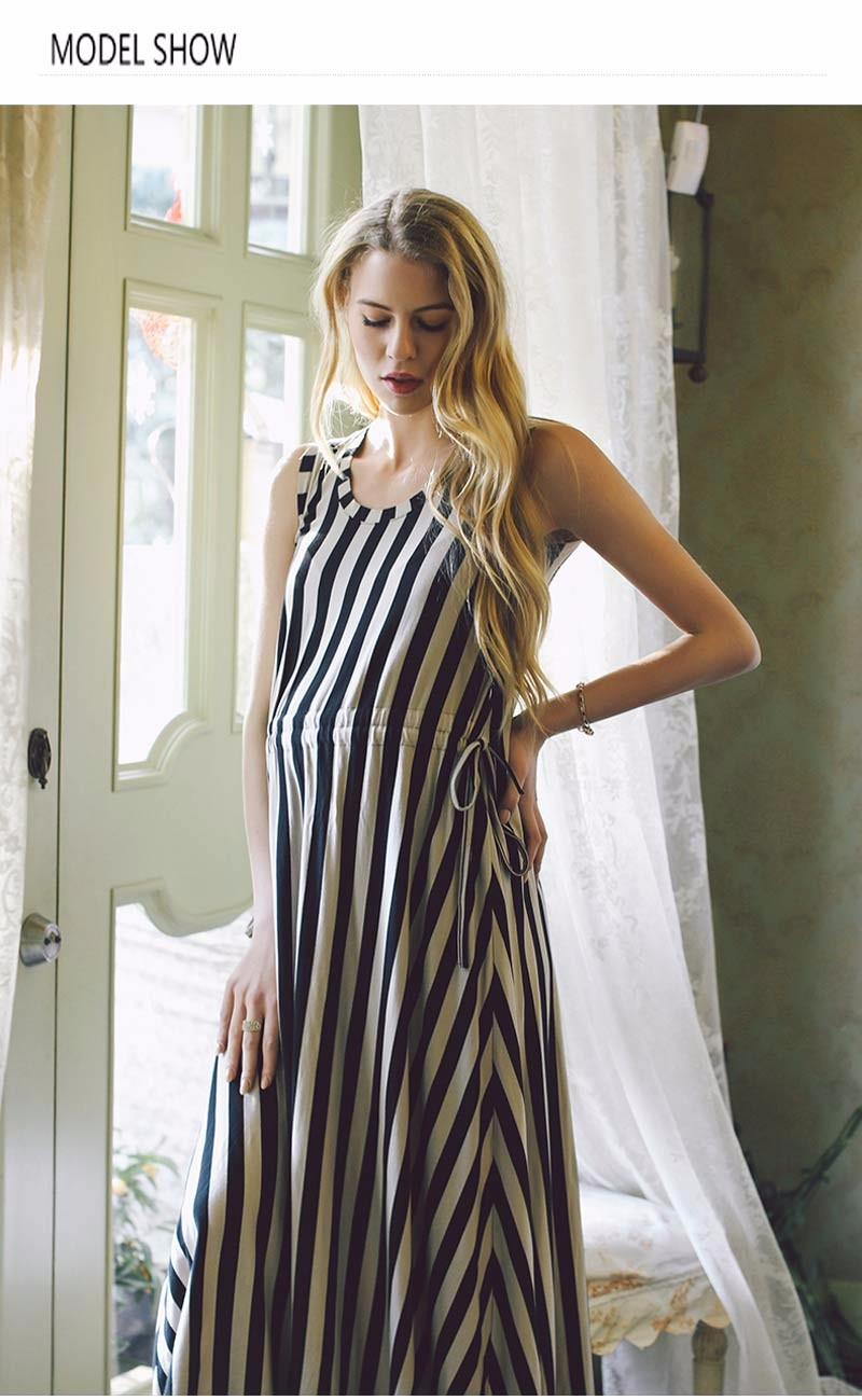 Women Long Maternity Dresses Nursing Striped Skirt For Pregnant Women  Breastfeeding Women  s Clothing Mother Home Clothes ... a5b172a655dd