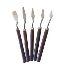 5 шт. профессиональный набор из нержавеющей стали краска ing краска Изобразительное искусство Шпатель скребок смешивая палитра нож