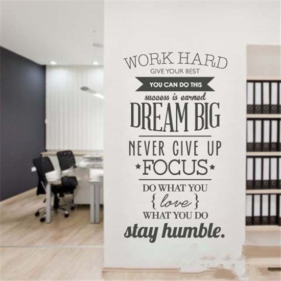 aliexpresscom buy english familyhouse rulesquotessaying dream big inspiration quote wall stickers diy home decoration wall art decor decal from - Home Decor Quotes