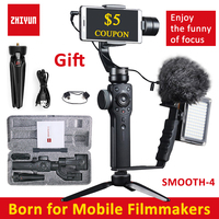 Zhiyun Smooth 4 Handheld 3 Axis Brushless Gimbal Stabilizer For IPhone X For Samsung For Gopro