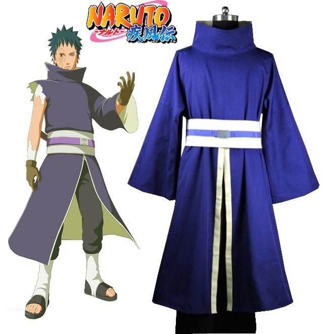 Naruto Shippuden Uchiha Obito / Madara Kimono y Máscara Anime Cosplay Traje (Sin Máscara)