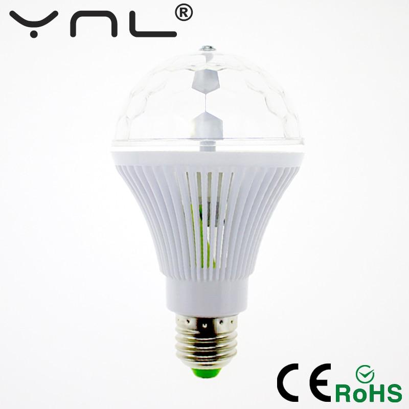 YNL RGB Dj disco light 6W E27 85-265V Color music Colorful Rotating Magic disco Ball luces discoteca Party lights effect Bulb ...