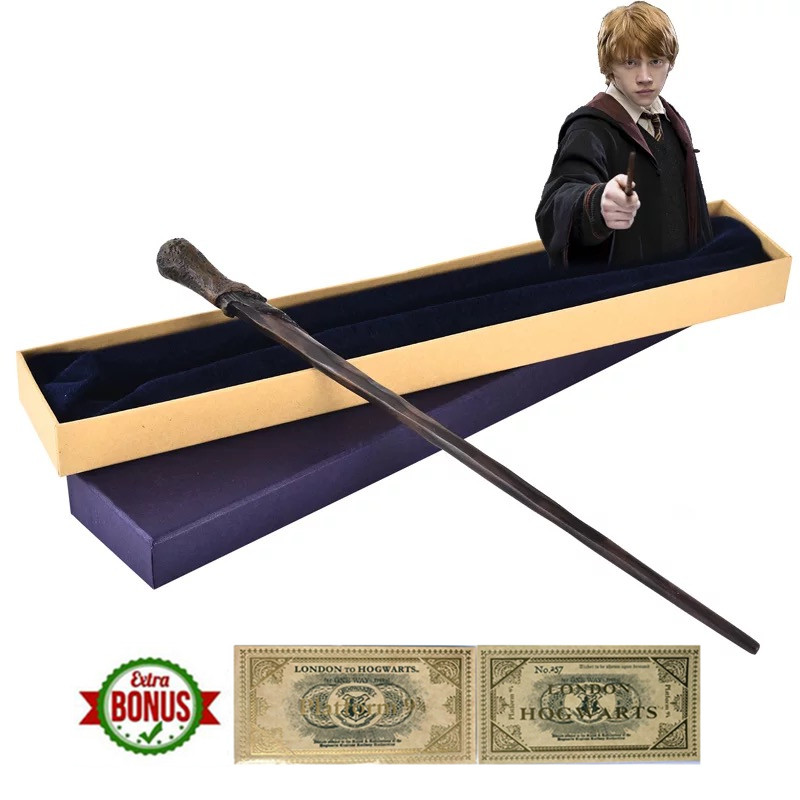 Metal Core Ron Weasley Magic Wand  Wizard Wand Gift Box Packing Gryffindor Halloween Cosplay