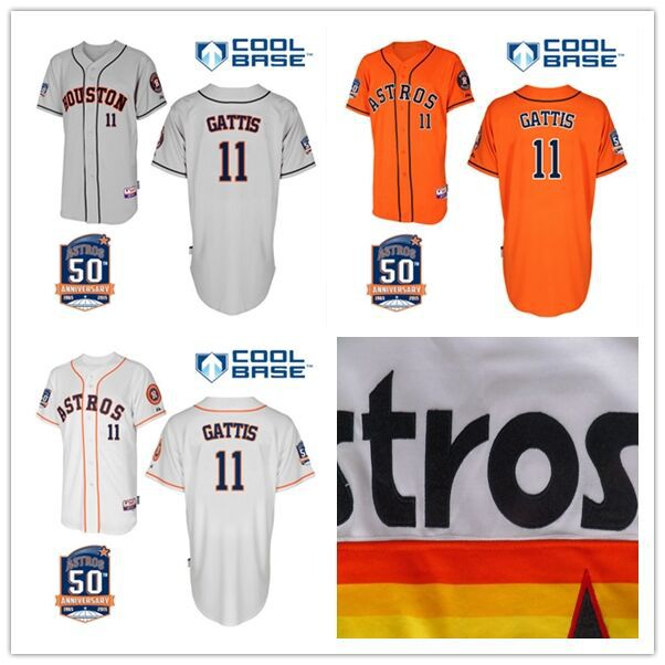 half off 28292 653a0 New Arrival 11 Evan Gattis jersey Customized Houston Astros ...