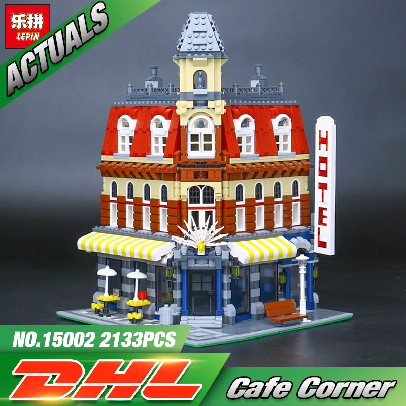 2016 New 2133Pcs LEPIN 15002 Cafe Corner Model Building Kits Blocks Kid Toy Gift Compatible With 10182 lepin 15002 cafe corner model 2133pcs building kits blocks kid diy educational toy children day gift compatible 10182