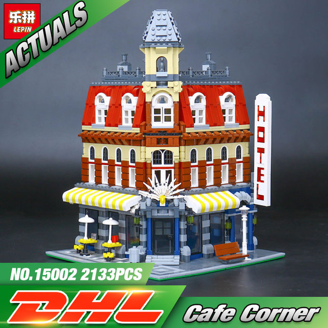 2016 New 2133Pcs LEPIN 15002 Cafe Corner Model Building Kits Blocks Kid Toy Gift Compatible With 10182