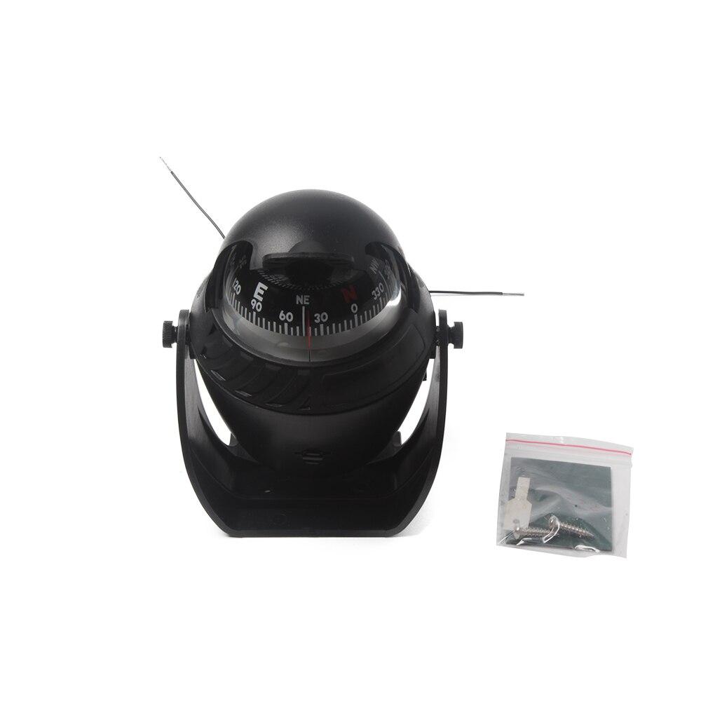 12V Marine LED Light Compass For Sail Ship Vehicle Boat Car Indicator White Black