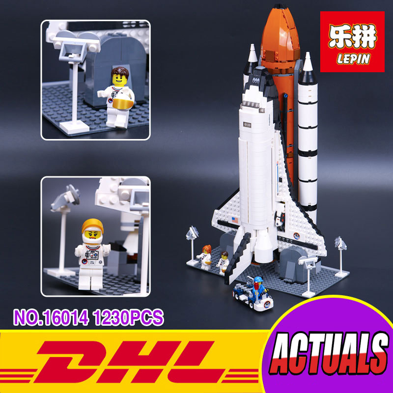 New LEPIN 16014 1230Pcs Space Shuttle Expedition Model Building Blocks Apollo spacecraft Bricks Compatible Toy 10231 builerds lepin 16014 1230pcs space shuttle expedition model building kits set blocks bricks compatible with lego gift kid children toy