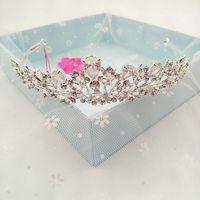 Nowy High-end Prestiżowy Kamienny Cystal Biżuteria Tiara Korona Ślubna Suknia Ślubna Panny Młodej Włosów Korony dla Kobiet Najlepsze Prezenty HG-GB01