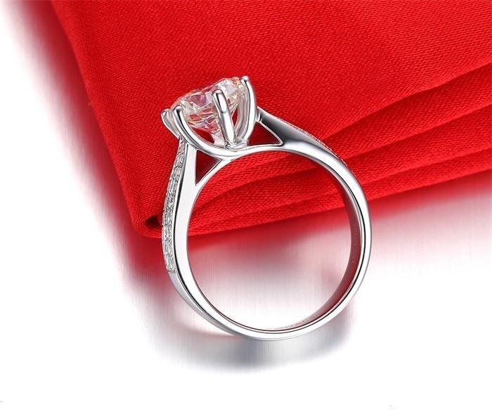 Tabe penge fremme 100% 925 sterling sølv ringe smykker luksus 8mm 2 - Mode smykker - Foto 3